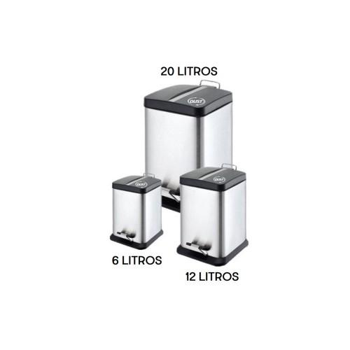 Bote de acero inox Línea Silver 6, 12 y 20 litros.